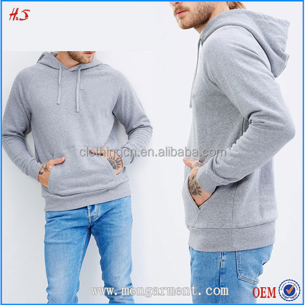 High-End Custom Product 100% Cotton Fleece Plain Pullover Drawstring Hoodies Sweatshirts With Chest Pocket