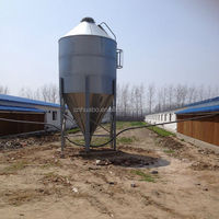 Huabo broiler house poultry feed silo