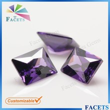 FACETS GEMS Factory Direct Sale Cubic Zirconia Synthetic Gemstones Korea Amethyst