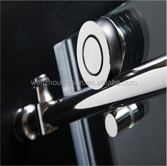 Twin roller barn door style sliding shower door & shower door hardware