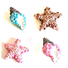 furnishing home sea star Christmas decorations with metal clip