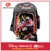 Motorcross Design Kids School Backpack With Pencil Case