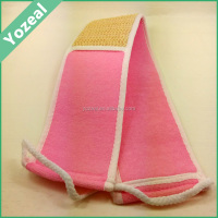 Most popular pink bath belt strap with sisal loofah material