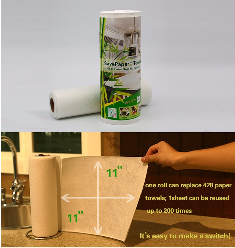 biodegradable bamboo recycled reusable paper towel