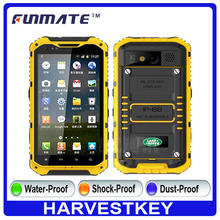 "4.3 "" Best Rugged Phones Waterproof Dustproof GPS IP68 Cellphones"