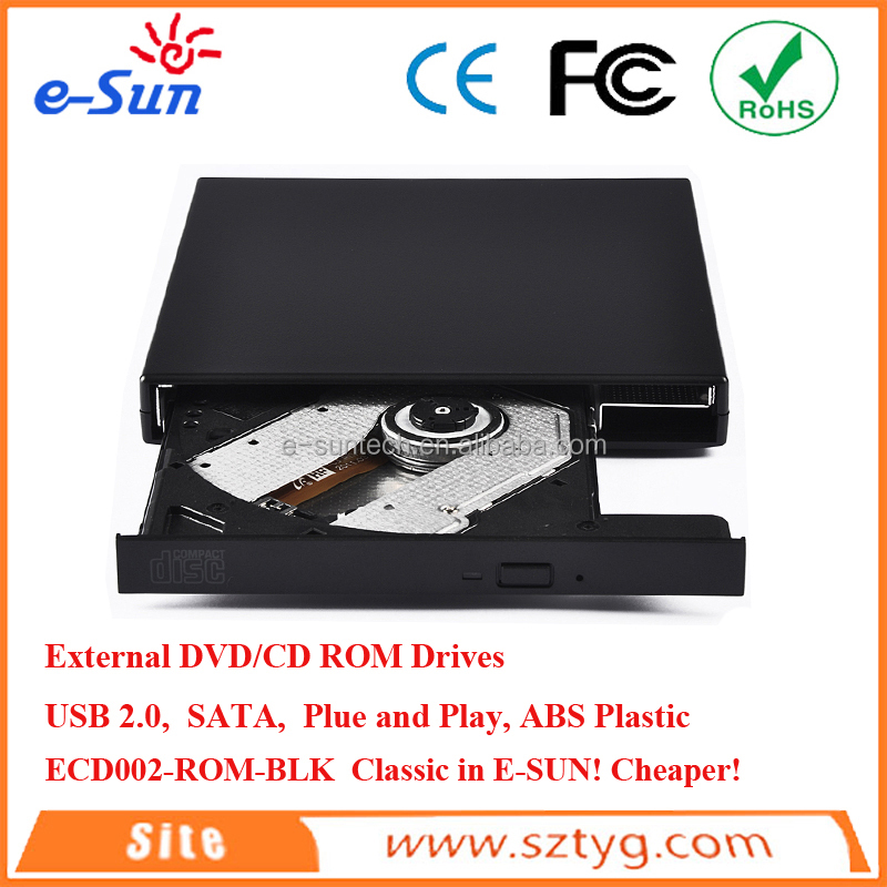 2016 Wholesale Slim Tray loading External USB 2.0 DVD / CD ROM Drive / Burner / Writer / SuperDrive