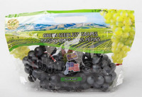 zip top stand up perforated hole grape export packing