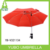 Special red fancy design umbrella folding for travel windproof function