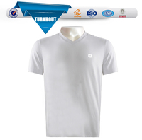Bulk plain white 100% cotton shirts custom print round neck long t shirt unisex t shirt wholesale
