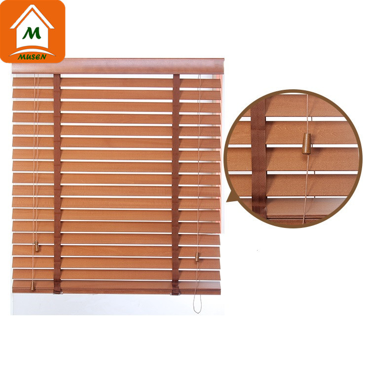 MS 35mm slats wooden window shades blinds