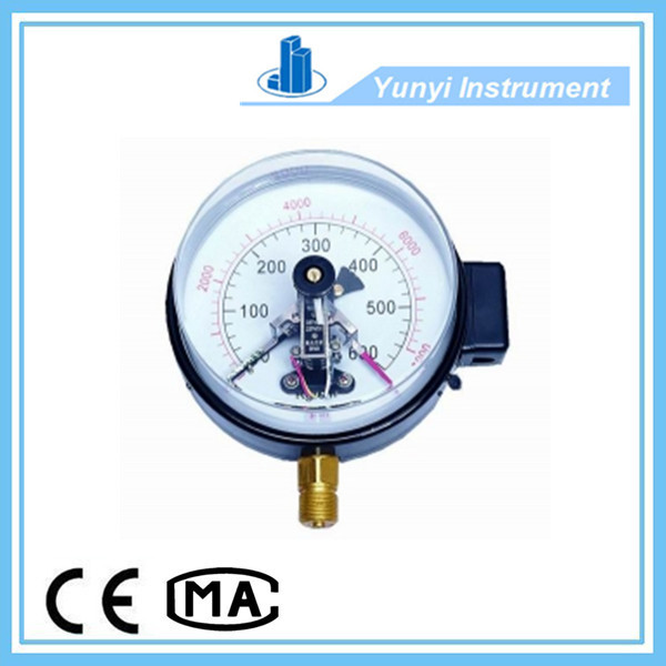 Magnetic-asstisted Electric contact pressure gauge