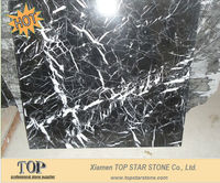 Chinese Cheap Black and White Marble Floor Tiles