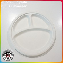 "High Quality Biodegradable 9"" Three Compartments Dishware"