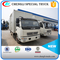 DONGFENG 100hp 4*2 6wheels 5ton Van Truck with Lifting tail gate