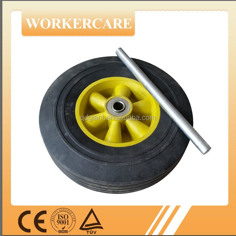 8x2.5 high quality solid rubber tyre and wheel