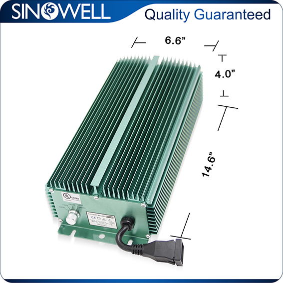 China Honest Manufacturer SINOWELL Hydroponics 1000 watt Grow Light Ballast
