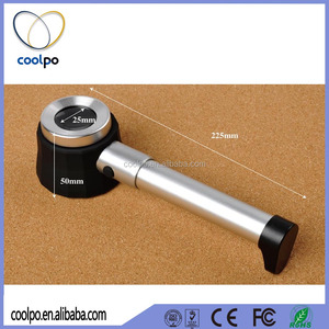 High Quality Hand-held Optical Magnifier glass LED Lighted Jeweler loupe with Scale