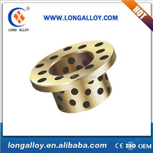 Self-lubricating Copper Steel Slide Bearing/Bimetal Flanged Guide Bush/Oil Grooved Brass Bushing