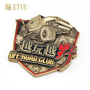 ETIE Free sample promotional custom metal badge off-road racing for BMW and for audi car