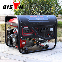 BISON(CHINA) Home Use 6kv 6kw Copper Wire Air-cooled Small Portable Gasoline Generator Set for Hot Sale