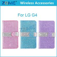Phone Accessories Bling Diamante Leather Diamond Wallet Case Cover For Lg G4