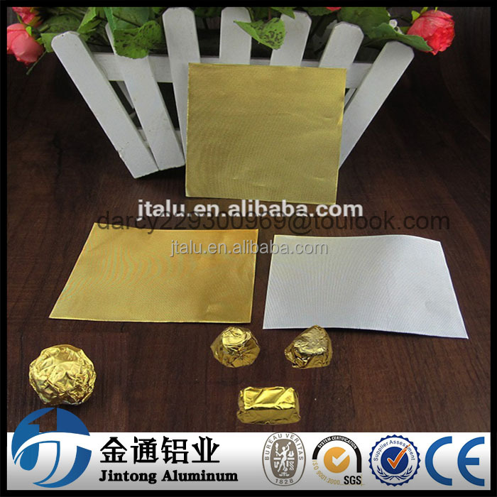 Candy Color Wrapper Aluminium Foils For Chocolate Packaging