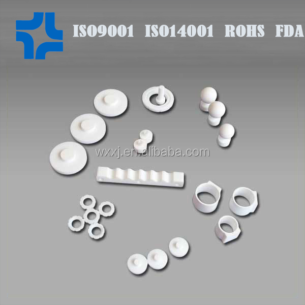 different kind teflon parts/ drawing ptfe part/ ptfe component
