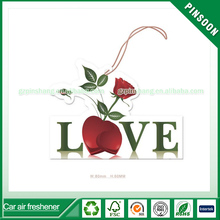 Showing your love custom scents paper car air freshener