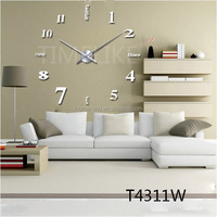 Home Decor Clock Design 3D DIY Wall Clock Acrylic Wall Clock EVA Stickers for Living Room