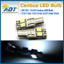 Hot sale T10 194 168 w5w canbus led bulb 5050 2x2 LEDs for bmw,for audi,for vw Interior light reading light