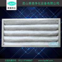 washable aluminum frame polyester sythetic fiber foldaway panel air filter