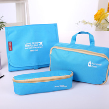 Wholesale Three-in-one wash bag package multi - function travel bag 3 sets folding travel makeup/cosmetic bags