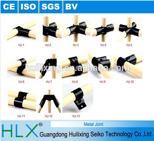 Stainless steel pipe joint system , pipe rack joint system, Metal joints with factory direct sale