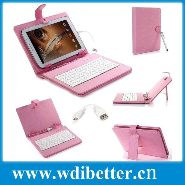 7'' Leather case usb keyboard bracket for 7 inch Android Allwinner Ainol Novo Epad Tablet PC Netbook