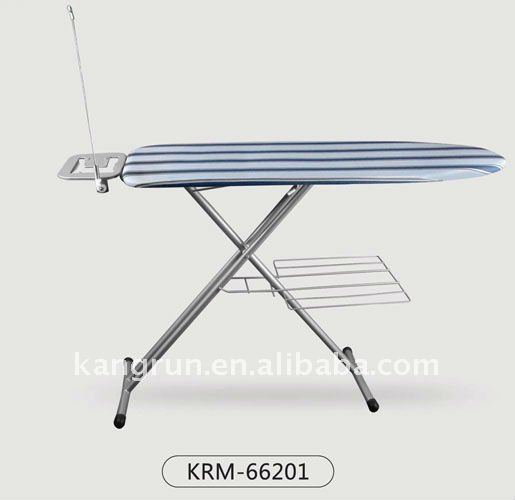 Europe popular mesh top folding ironing board with 100% cotton cover manufacturer supplier