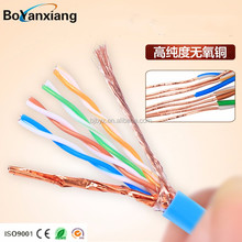 Hot selling network cable cat6 amp cat6 patch cord copper cable price per meter