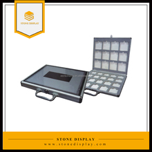 new design style handle stone display box handle quartz stone sample carry case