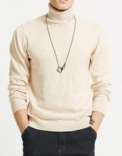 S1 Turtleneck Mens Heavy Wool Knit Plain Pullover Sweater