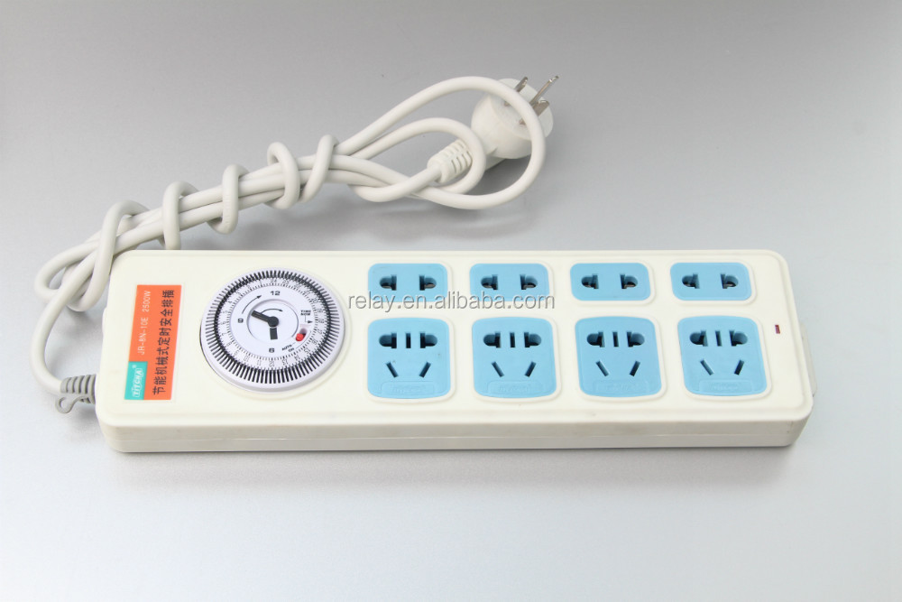 JRT-8N Electrical Plug and Socket / Extension socket / Mechanical Programmable Timer Safety Socket