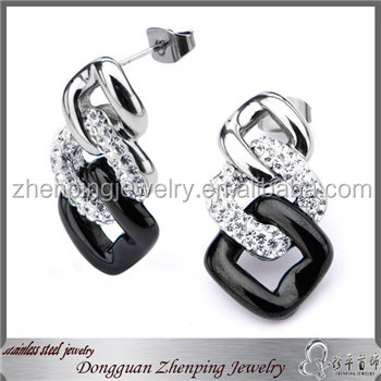 Latest trend earring wedding jewelry fashion earring strass