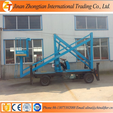 Low budget self-propelled articulated lift full automatic cherry picker boom lift