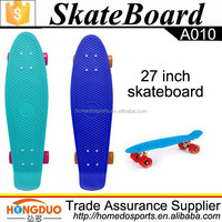 Long plastic street skateboard cruiser 27