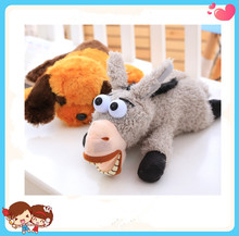 cute animal series electric laughing and rolling dog donkey simulation plush toy