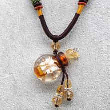 fashion glass vial 12 constellations necklace pendant