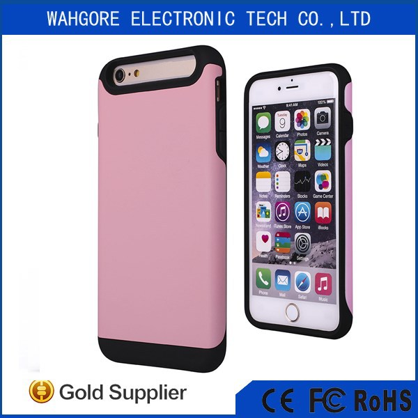 PC+TPU SGP cell phone case for iphone 6 plus white/red/black/blue color
