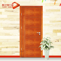 Clear single grill pine wood veneer main carved door design