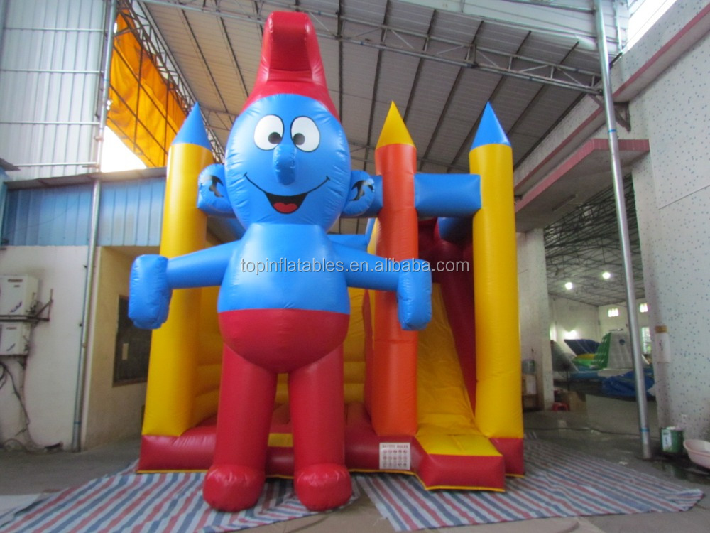 Inflatable combo bouncy castle inflatable cartoon man combo with slide bouncer