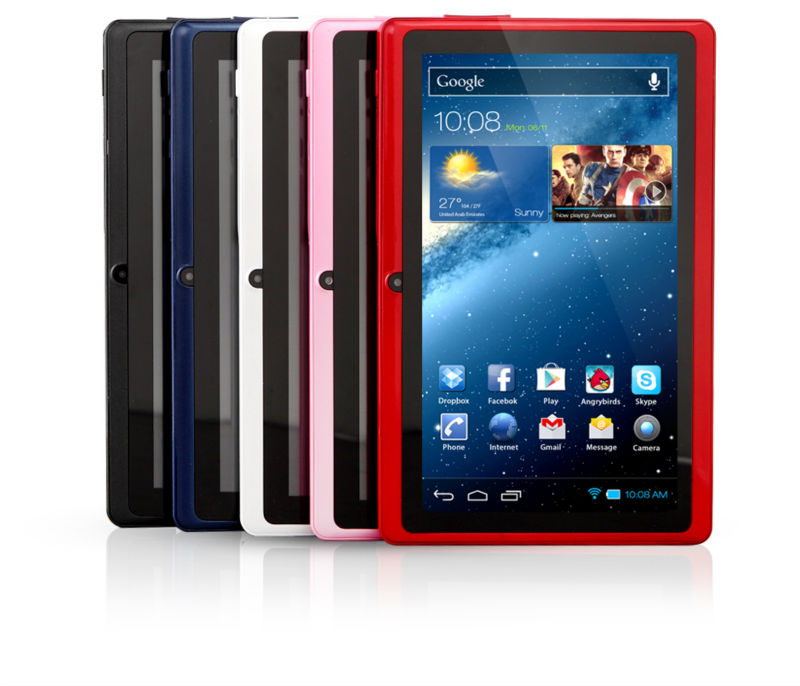 "computadoras Q88 7""tablet pc Allwinner A13 Android4.1/4.0 RAM 512mb flash 4GB ultrathin capacitive mini laptop"