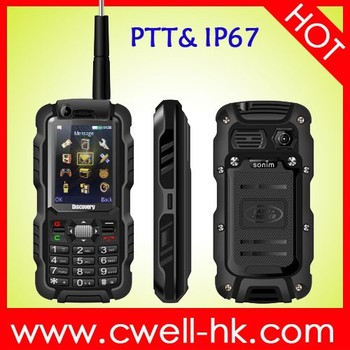 New hot GSM dual sim discover A12i IP67 waterproof rugged mobile phone with antenna