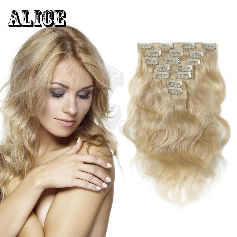Alibaba Express Wholesale Clip In Hair Extension 100% Human Curly Blonde Clip In Hair Extensions